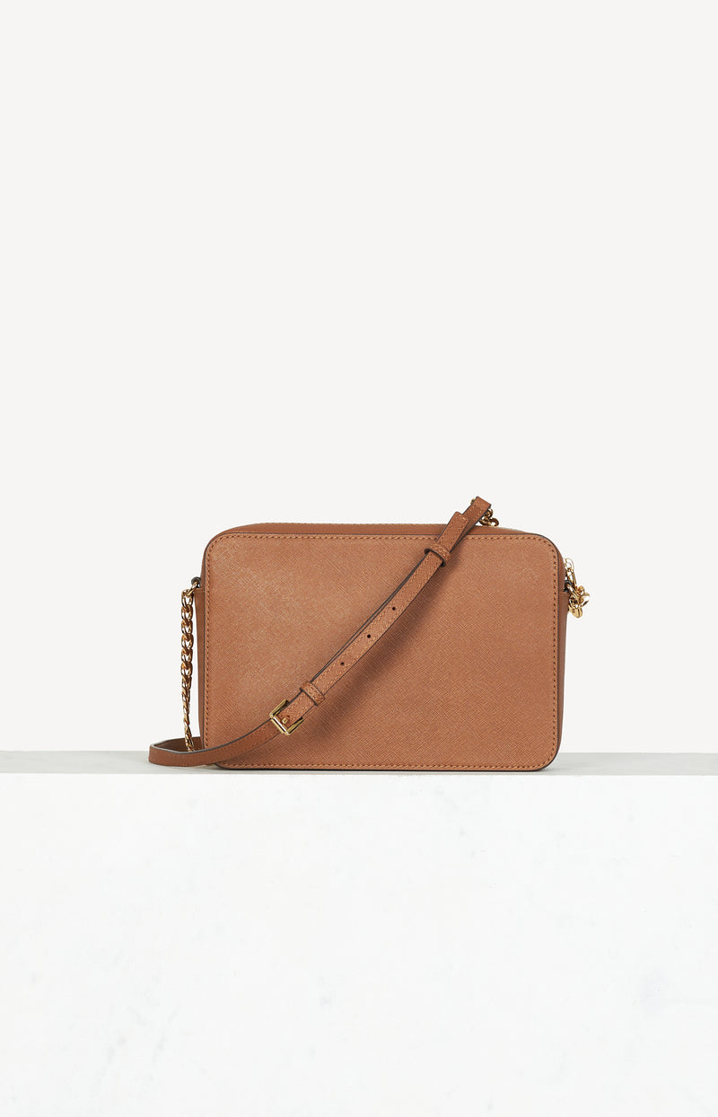 Tasche Jet Set Travel LG in Cognac/Gold