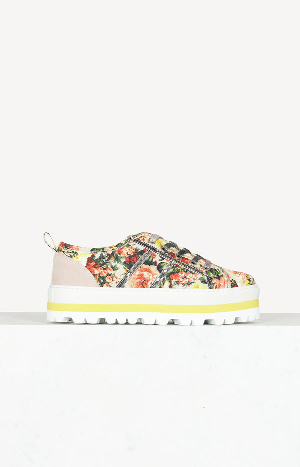 Platform sneakers in multi