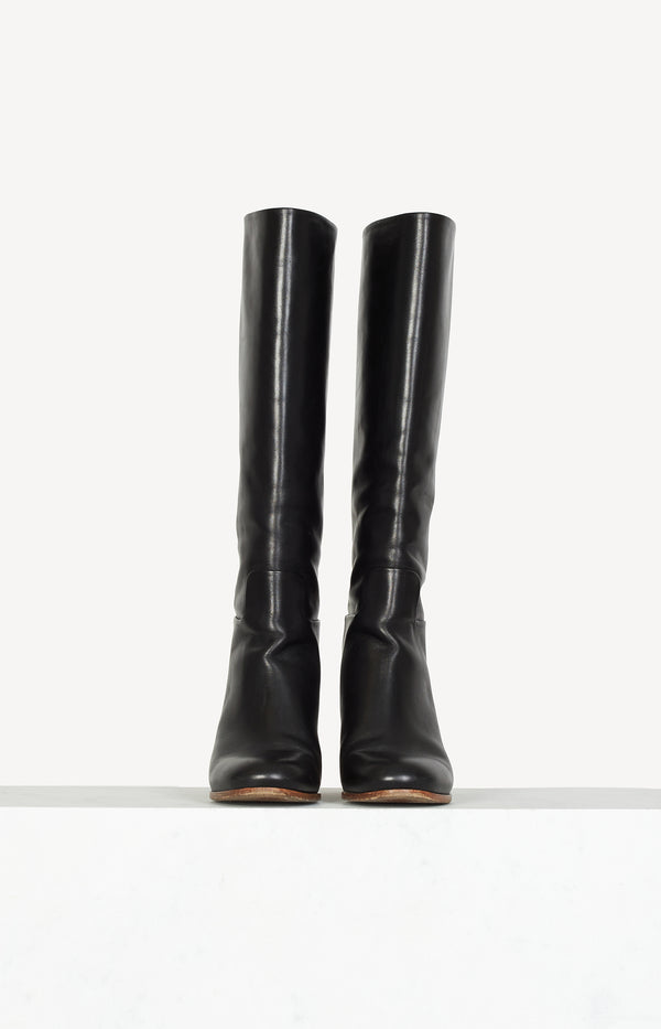 High boots in black / natural