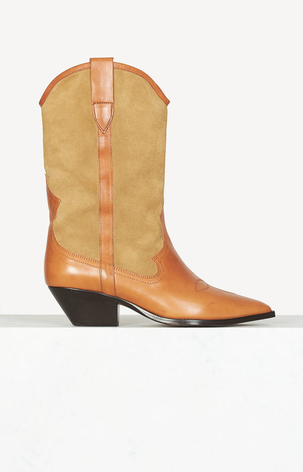 Western boots Dandrea in a mix of materials in beige / camel