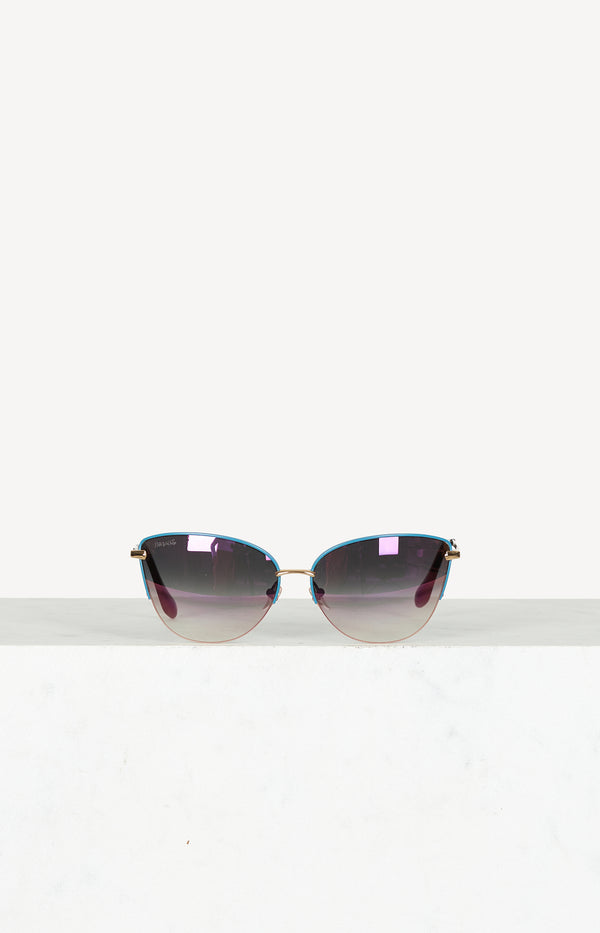 Cat Eye Sonnenbrille Leading Lady in Blau/Lila