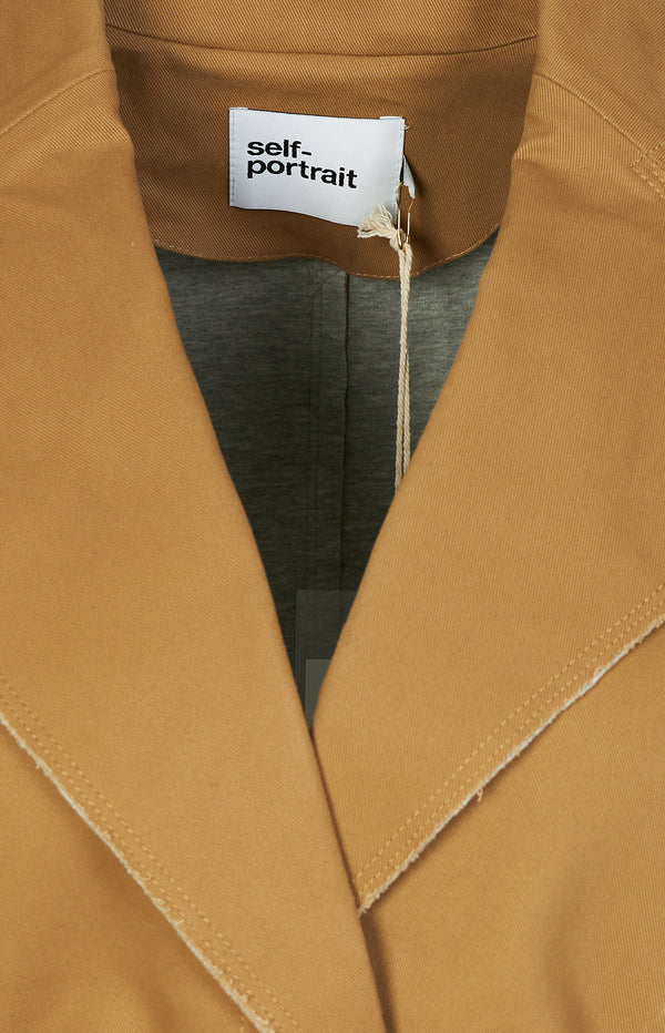 Camel canvas jacket in camel