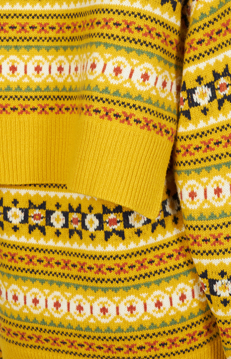 Pullover Fair Isle in Gelb/Multi
