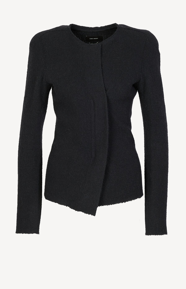 Knit blazer in black