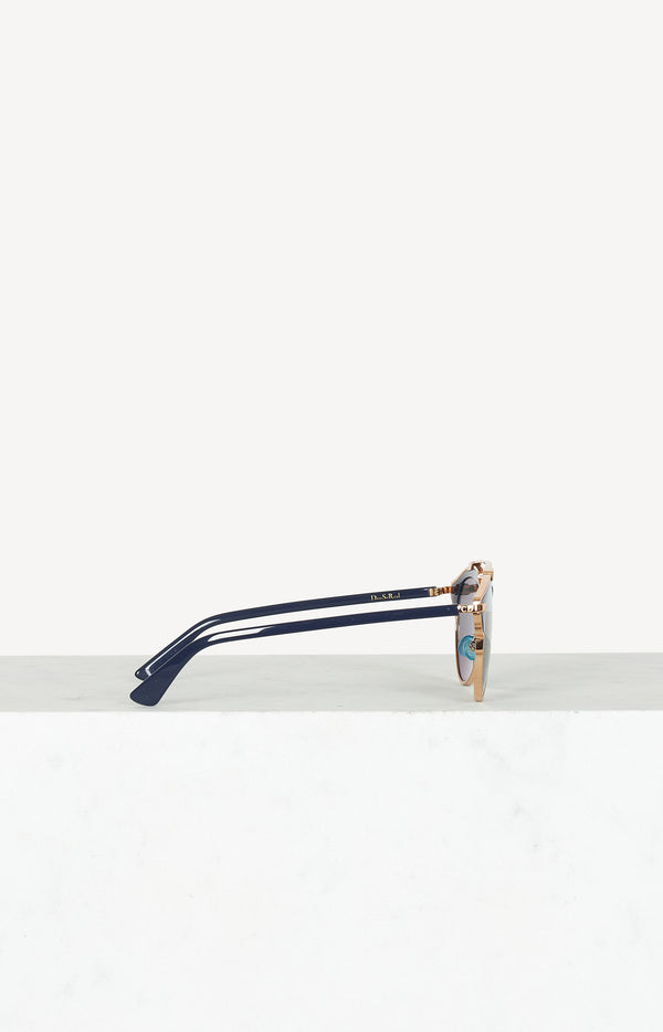 Sonnenbrille So Real in Gold/Navy/Rose
