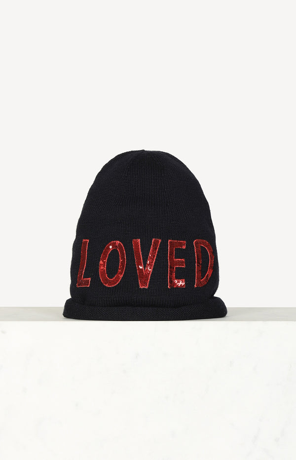 Beanie Loved in Navy