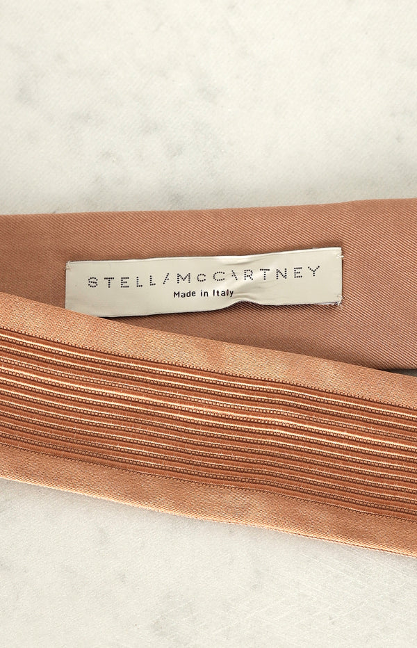 Silk belt in nude