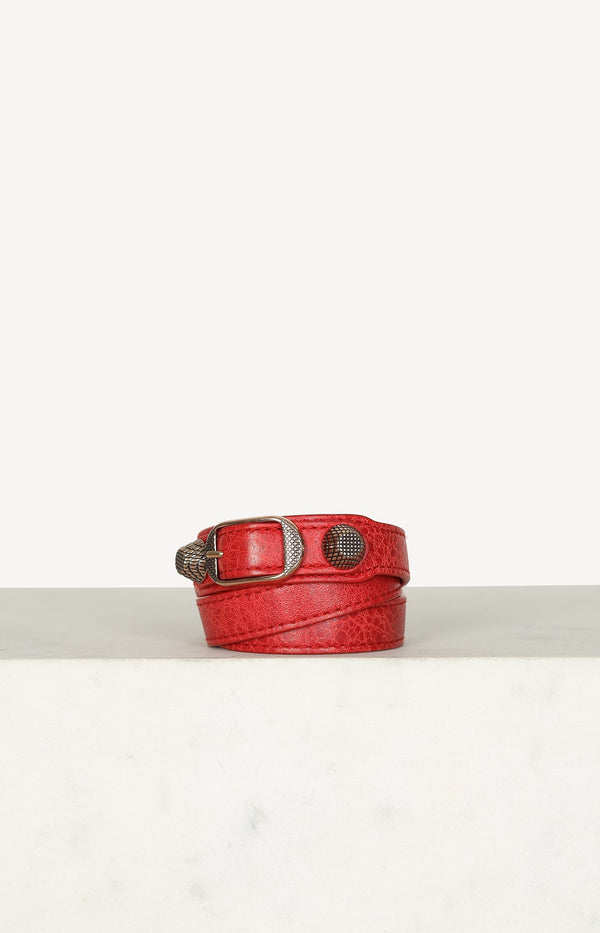 Leather bracelet in red / rose