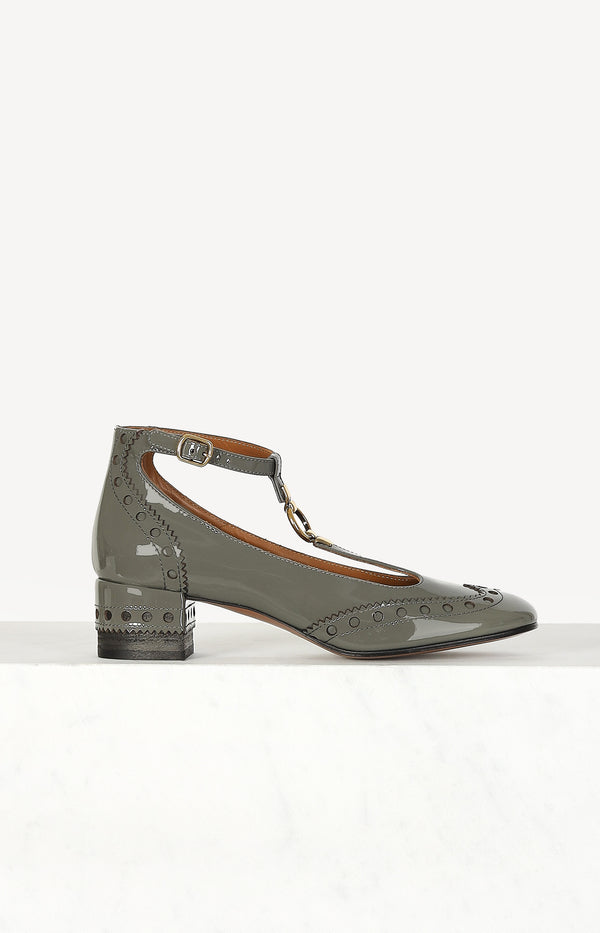 Mary Jane Pumps in Dusty Grey