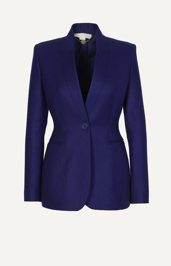 Wool blazer in royal blue