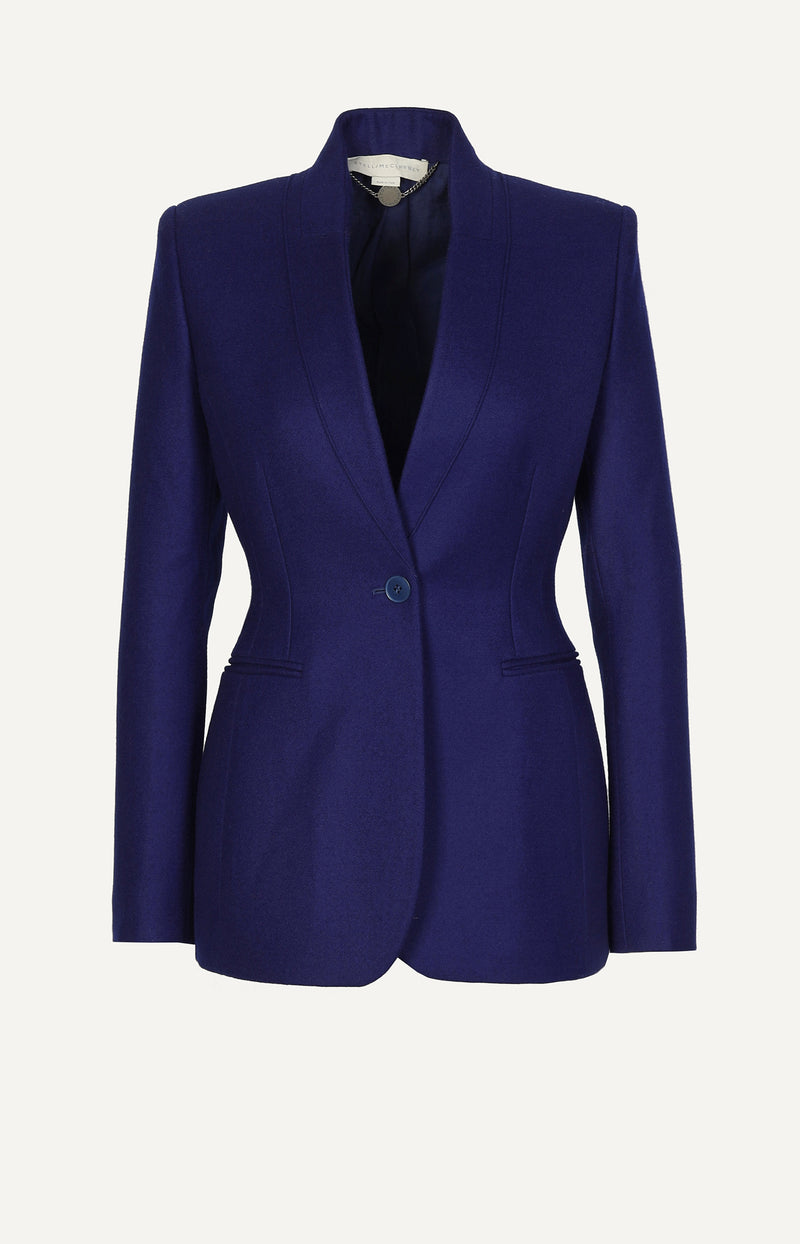 Wollblazer in Royalblau