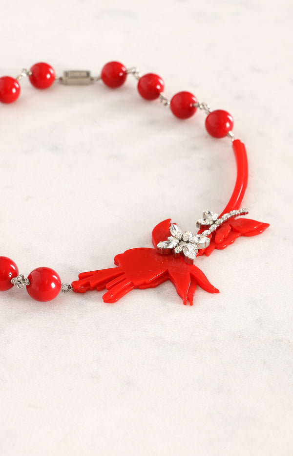 Pop Bouquet Kette in Rot