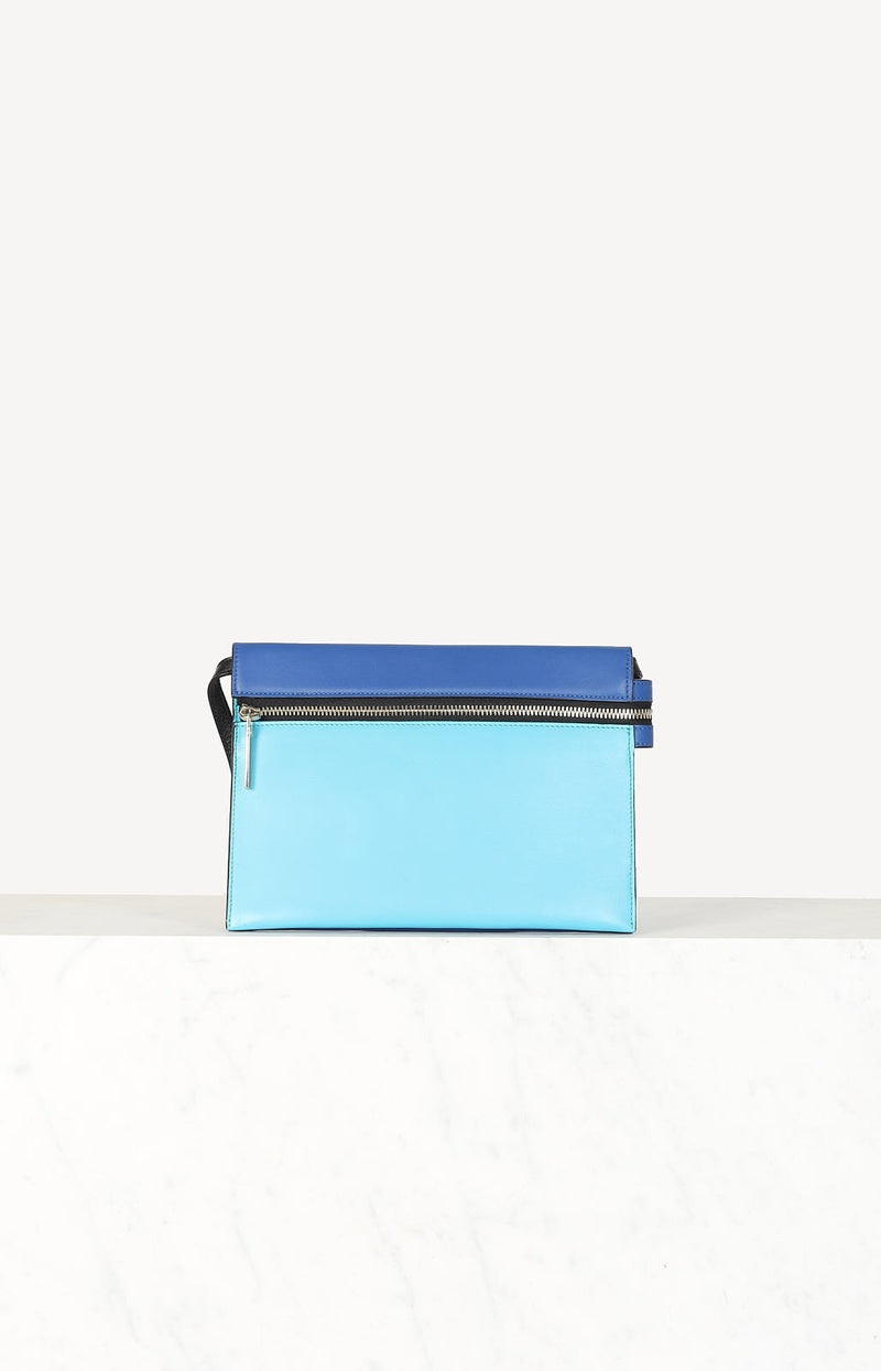 Zip pouch in turquoise / blue