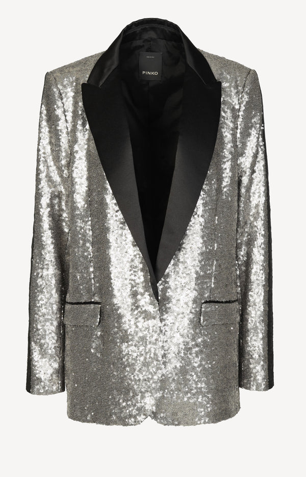 Blazer with sequins