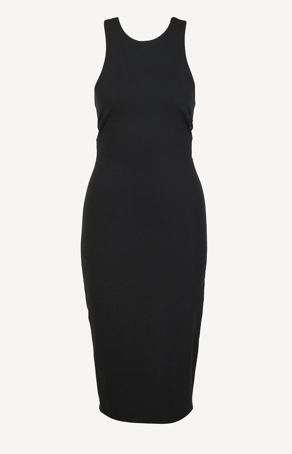 Dress with cut-out detail in black