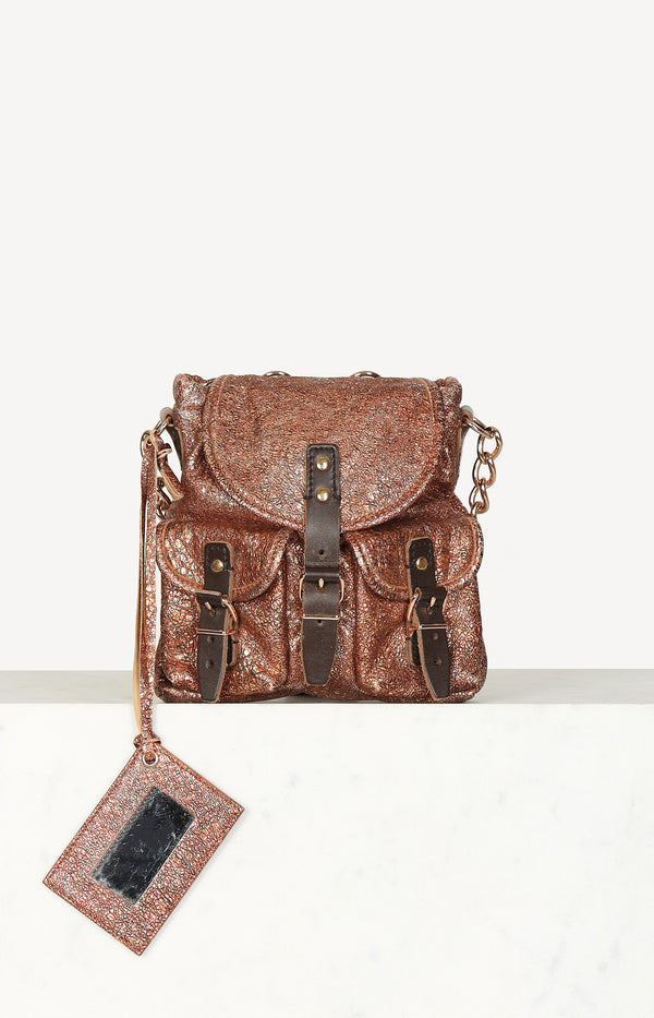 Tasche Mini Sac in Copper Metallic