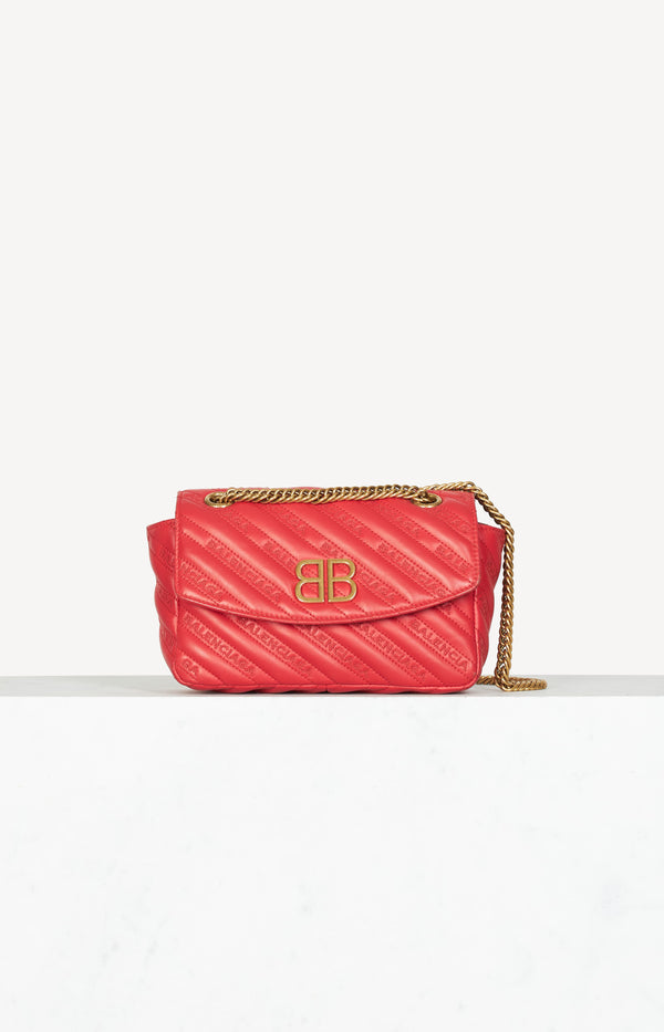 Tasche Quilted BB Chain in Rot