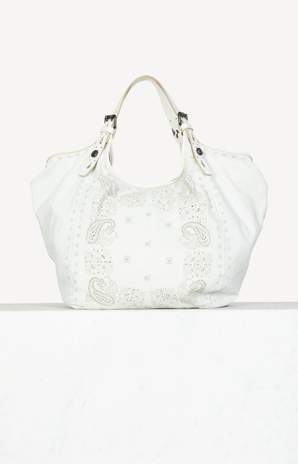 Bag paisley cut out in gray / white