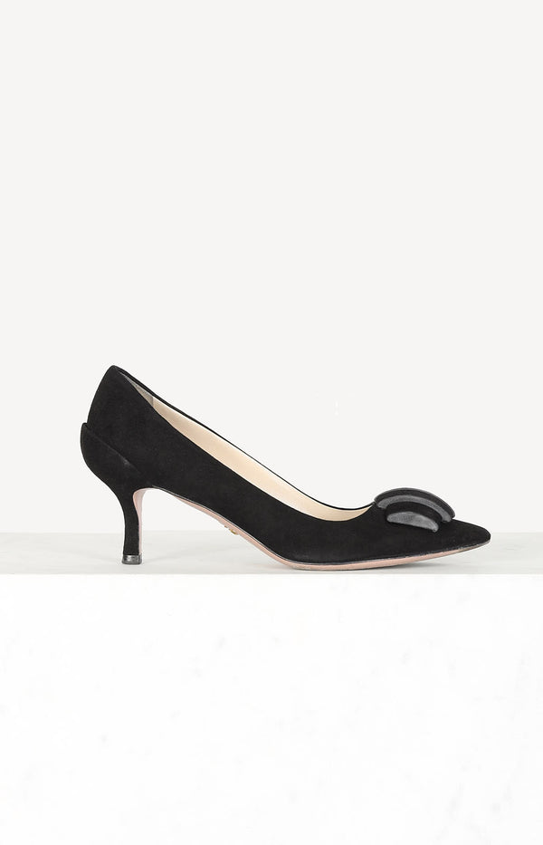 Suede Pumps in Schwarz