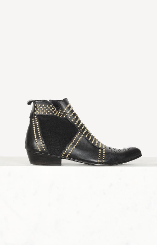 Boots Charlie in black / gold