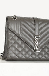 Tasche Envelope Flap in Grau