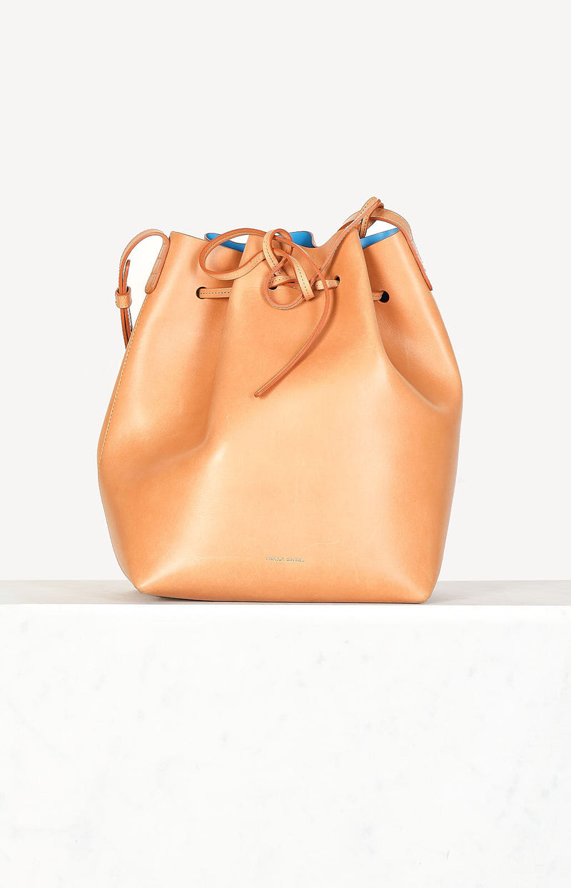 Tasche Bucket Bag in Cammello/Azzuro