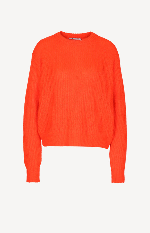 Boxy Strickpullover in Neon-Orange