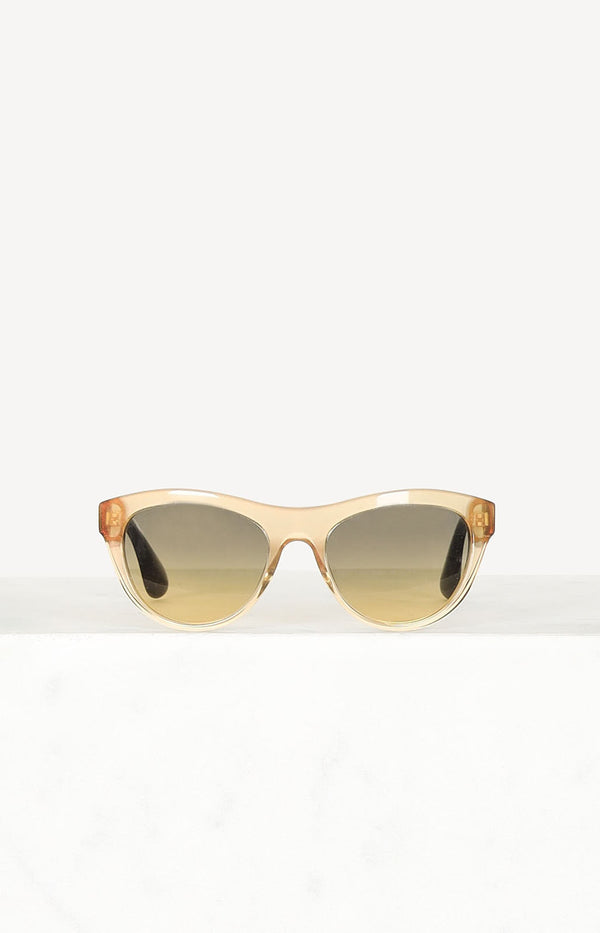 Cateye sunglasses in gold / yellow