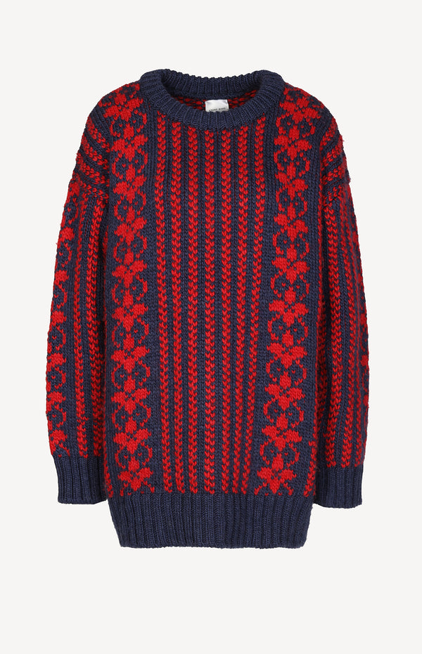 Pullover Wilma in Blau/Rot