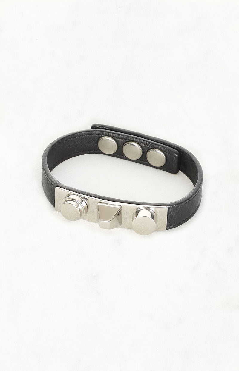 Armband Studded in Schwarz