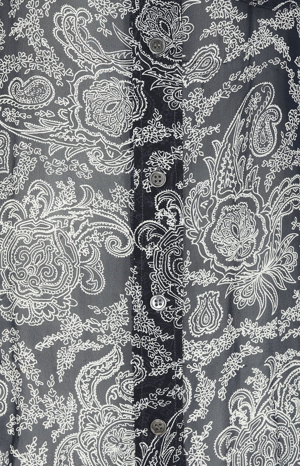 Paisley-Bluse in Dunkelblau