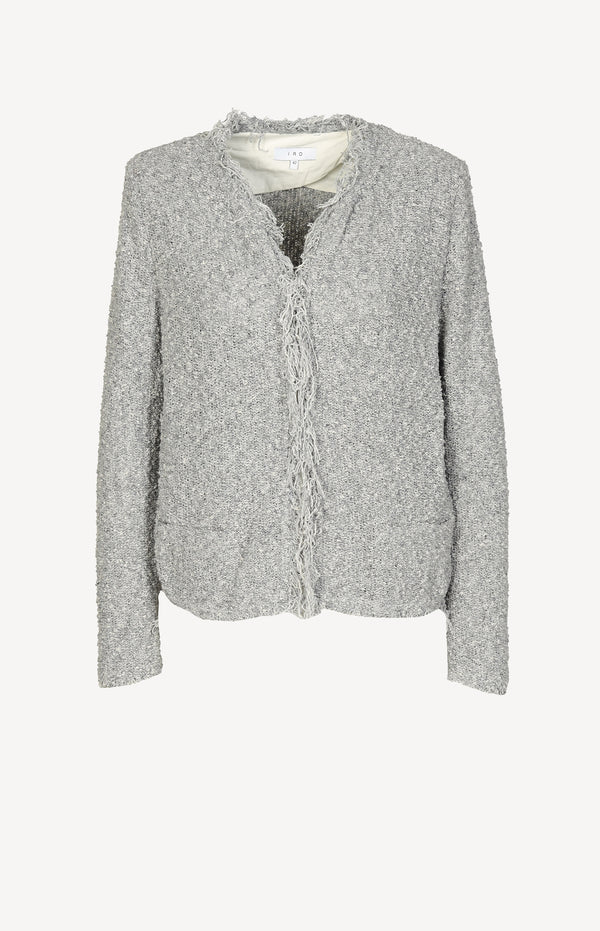 Shavani knitted blazer in gray