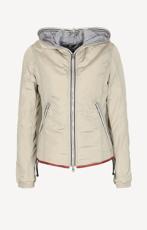Transitional jacket in beige / gray