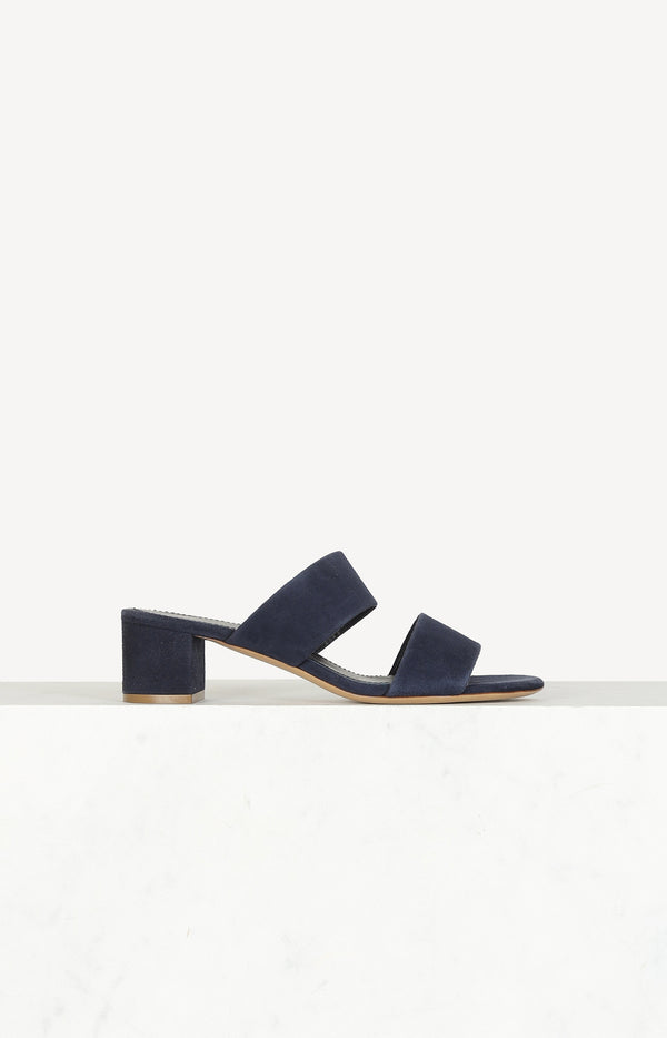 Suede sandals in blue