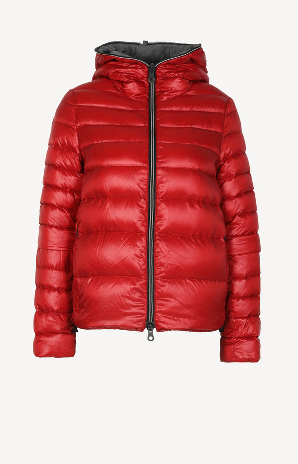 Down jacket in red