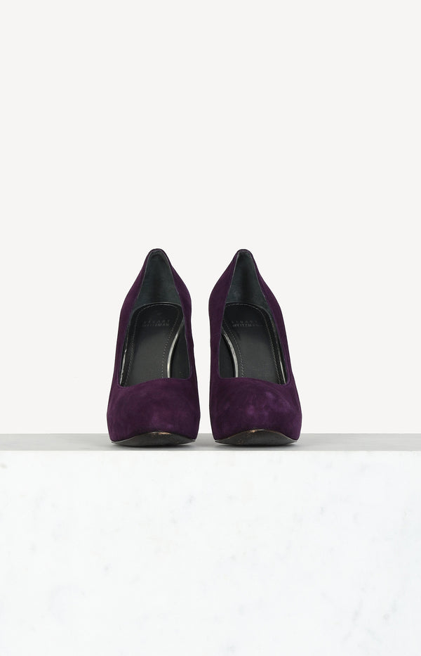 Suede Pumps in Lila