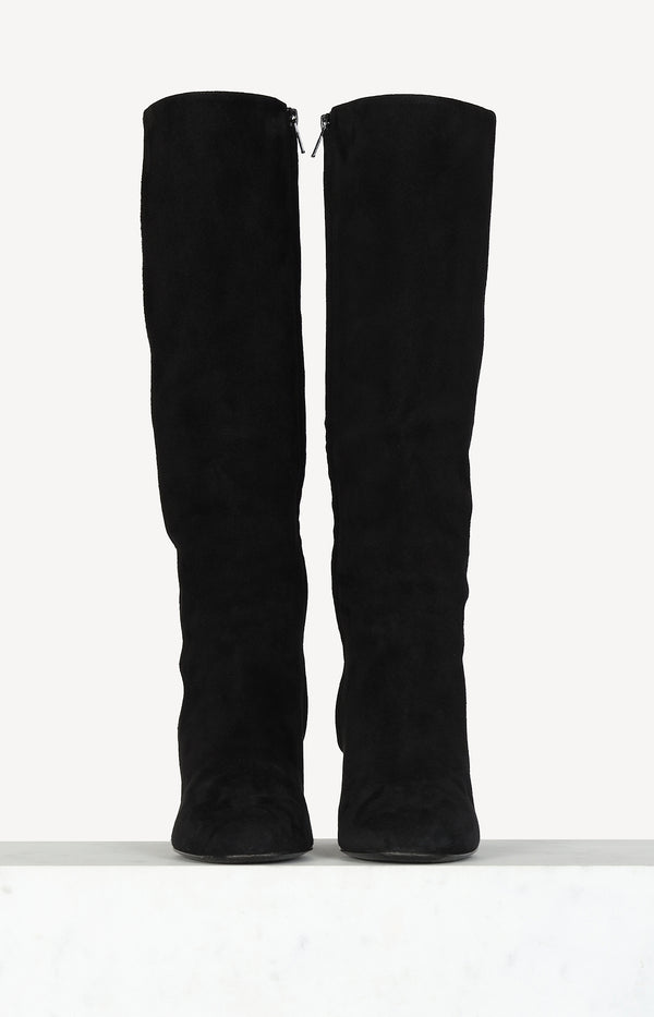 High Knee Boots aus Velours