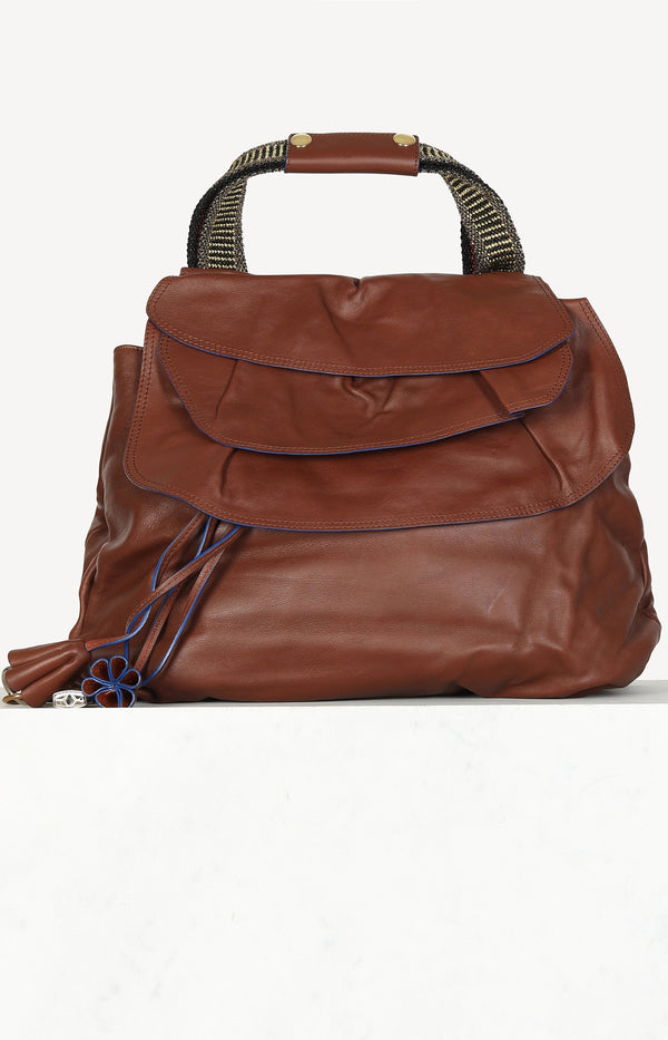 Tasche Hillary Dome in Brown/Blue