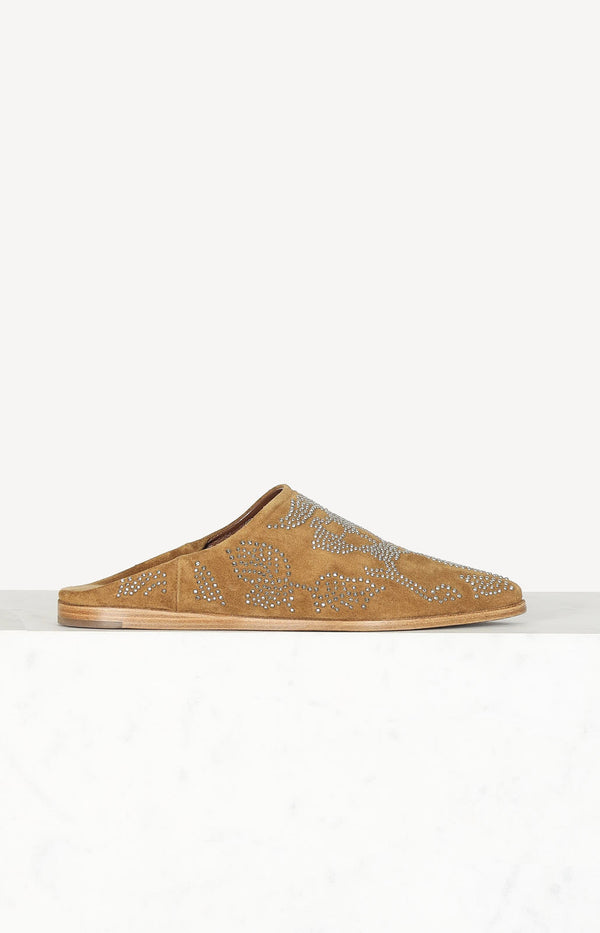 Babouche Slipper in Tan