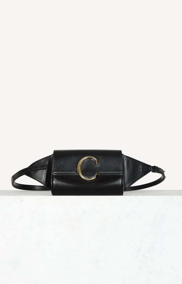 Belt bag C in black / gold