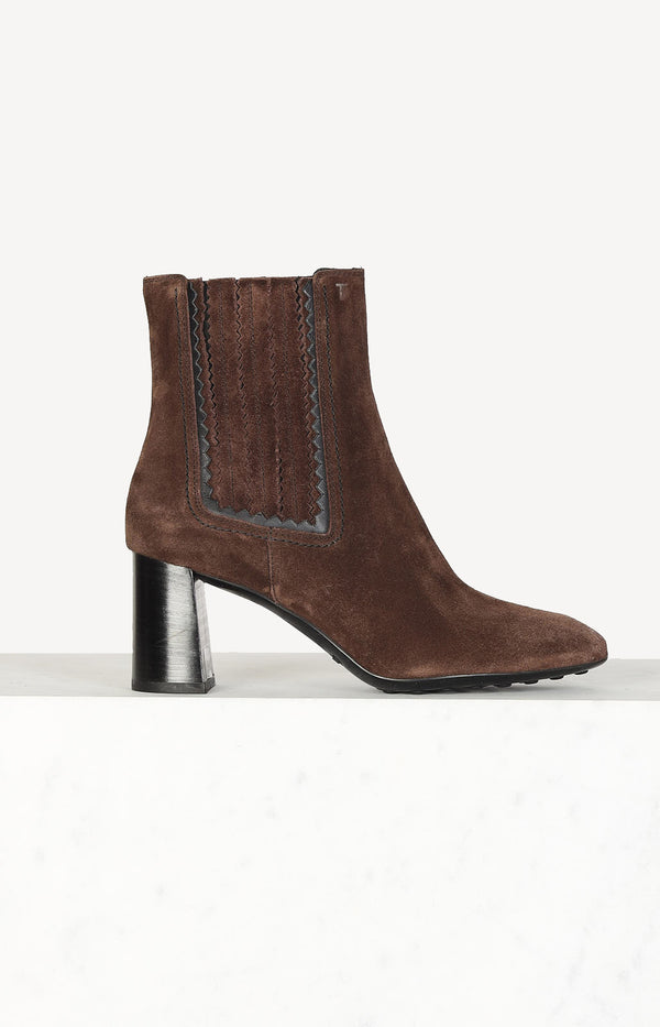 Chelsea Stiefelette in Braun Suede