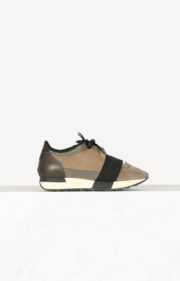 Race Runners sneakers in khaki / brown / black