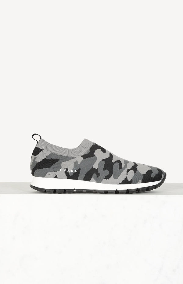 Sock sneakers in camouflage
