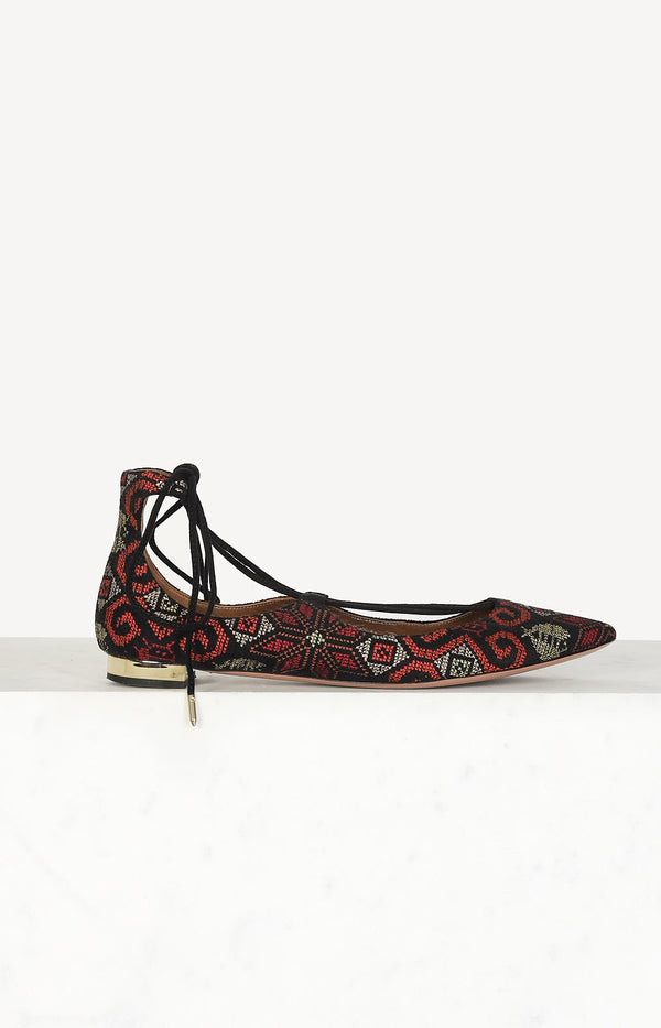 Low shoes in black / red / gold