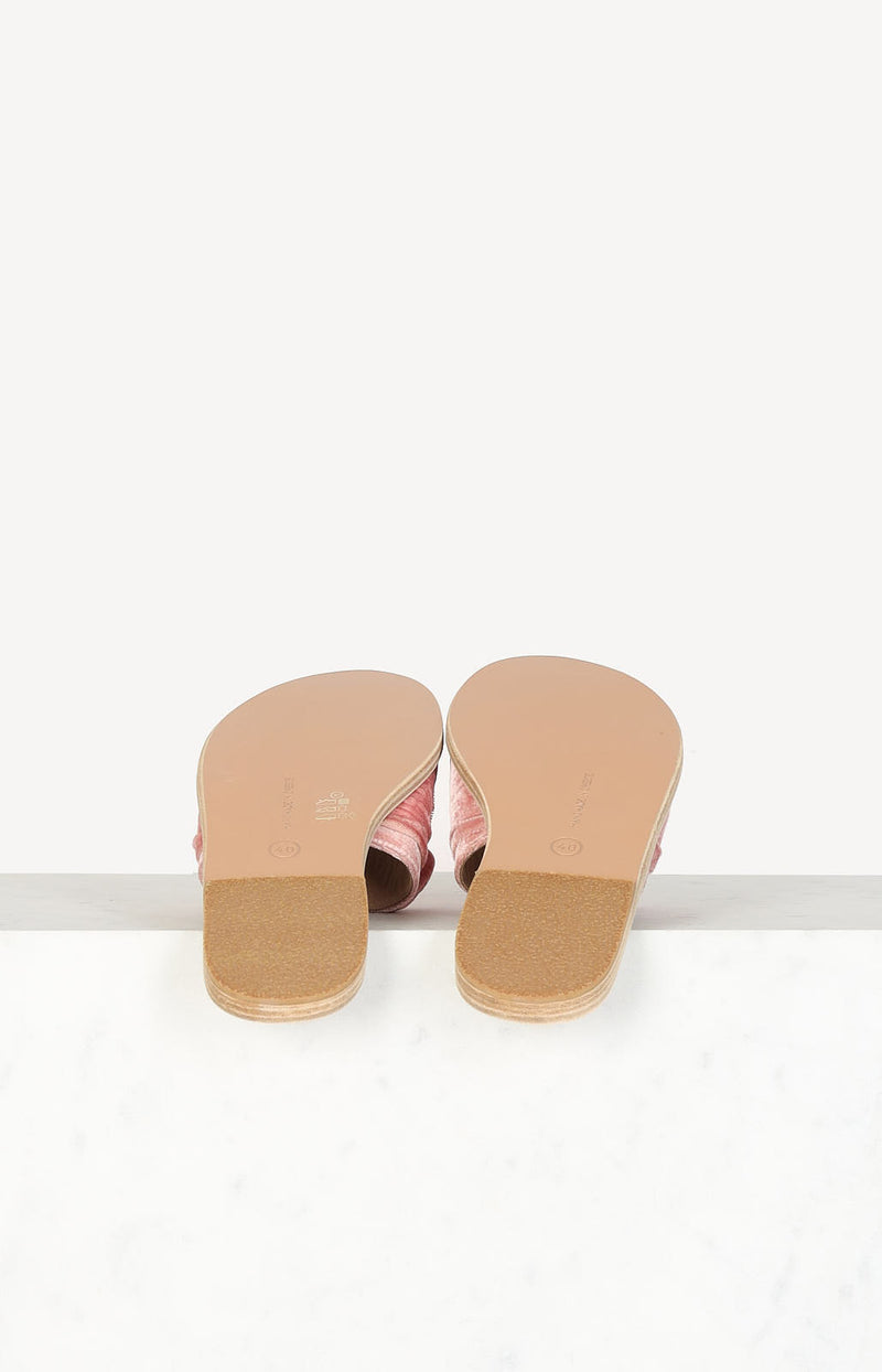 Sandalen Taygete Bow in Dusty Pink