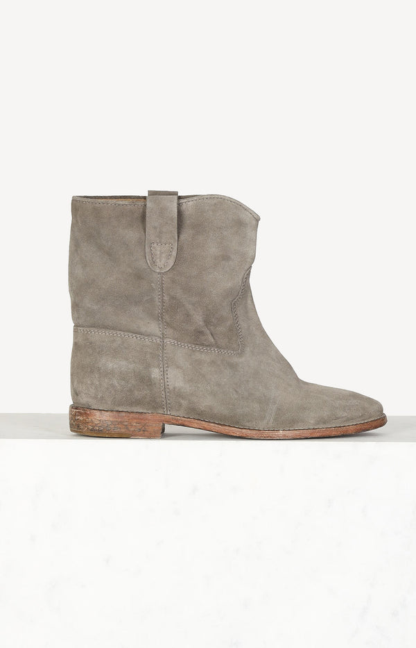 Boots Crisi in gray suede