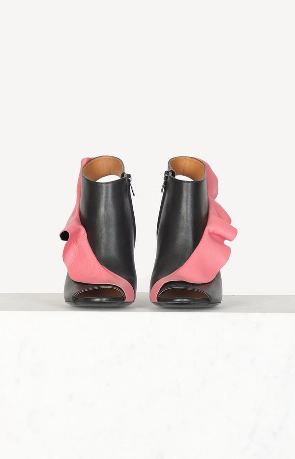 High heels in black / pink