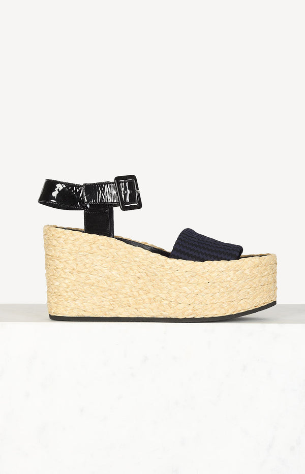 Bast wedges in dark blue