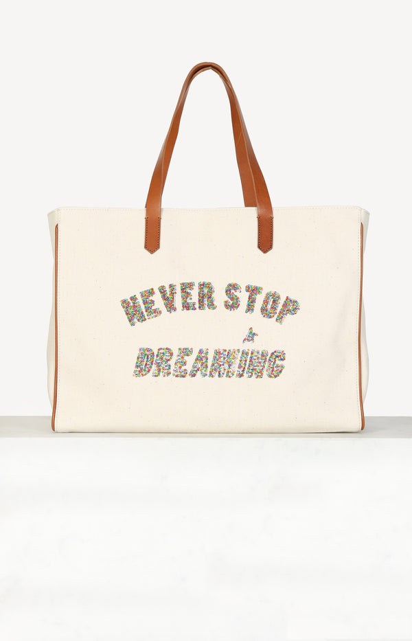 Tasche Never Stop Dreaming in Glitter