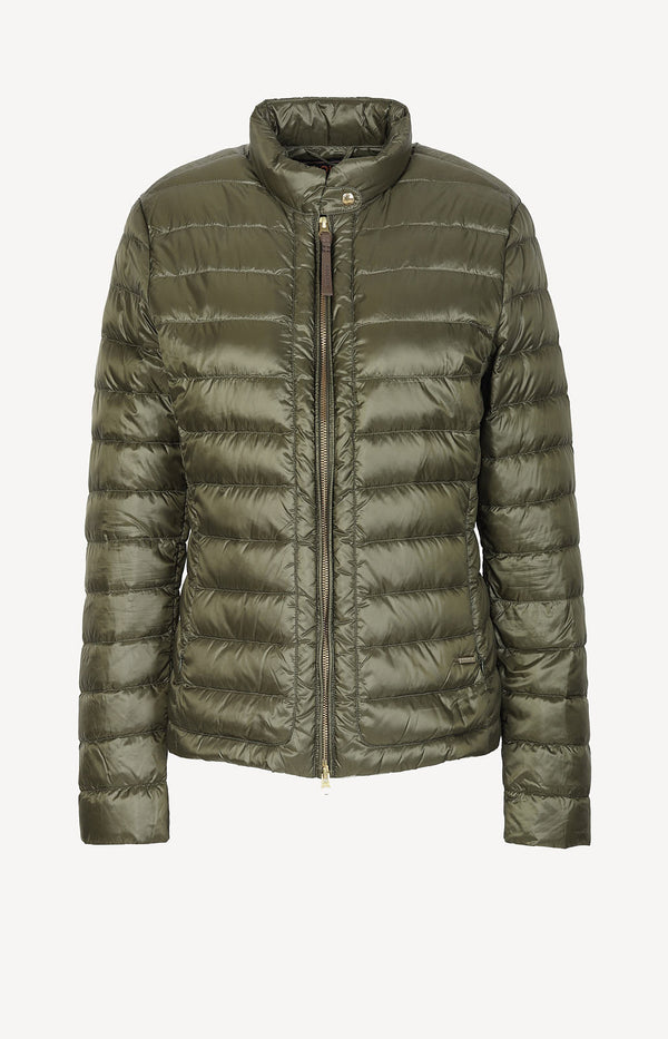 Light Weight down jacket in khaki